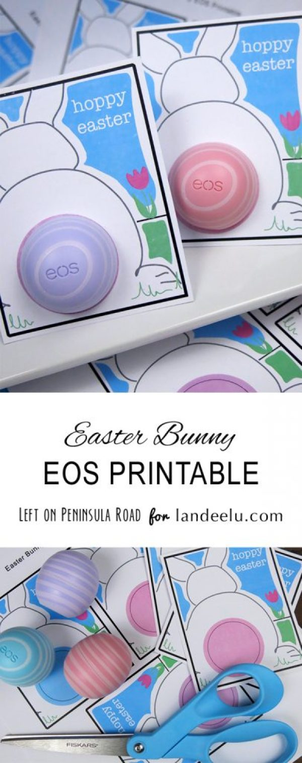 Easter Bunny Printable Cards for EOS Lip Balm