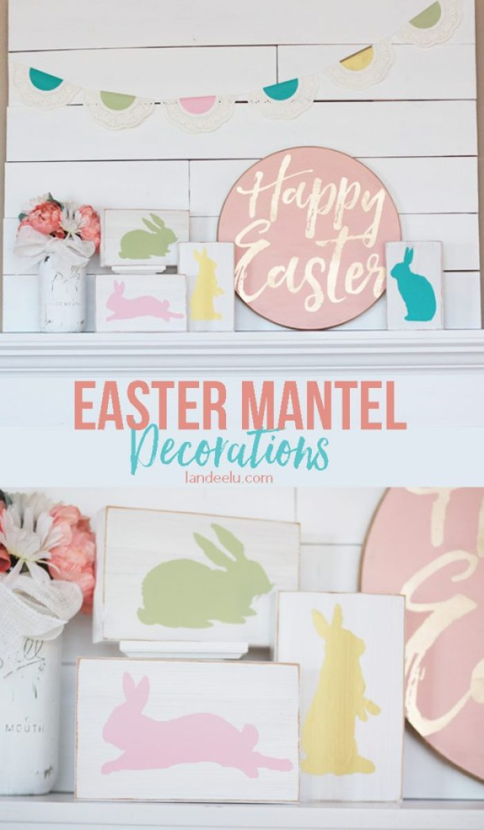 Easter Crafts Mantel Decorations from Landeelu