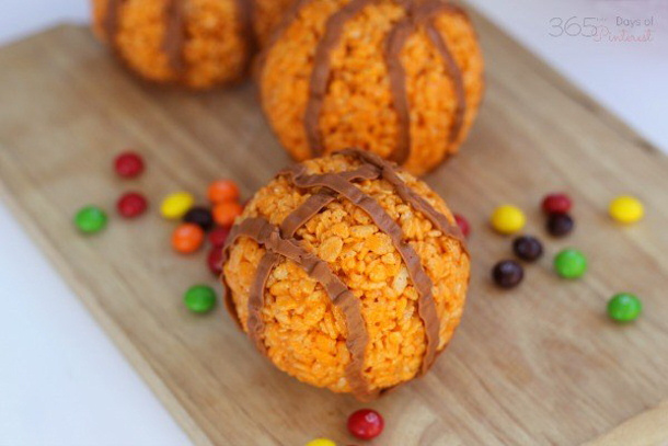 Hidden Surprise Rice-Krispie-basketballs via 365 days of Pinterest