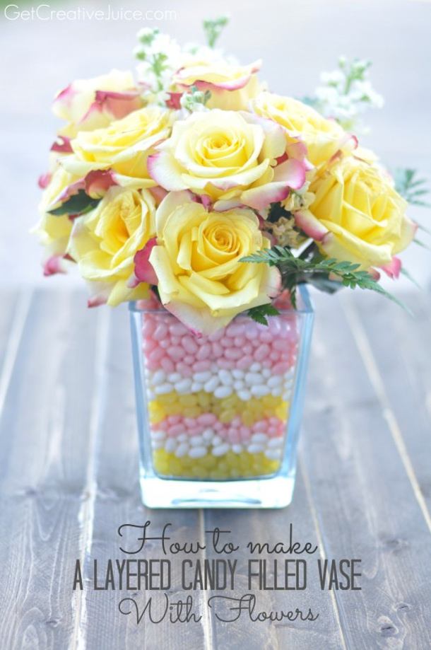How-to-make-a-layered-candy-filled-vase-with-flowers-tutorial via get creative juice