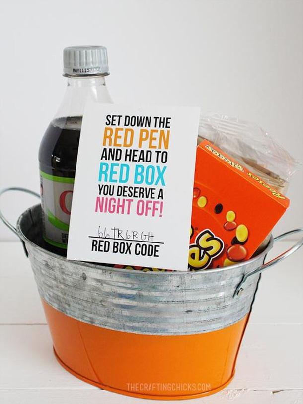 Redbox Teacher Appreciation Gift DIY Ideas The Crafting Chicks