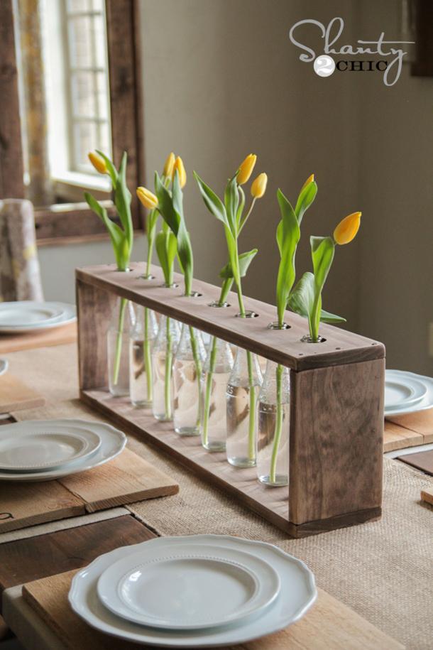 Shanty2Chic-Bottle-Vase Centerpiece Free Plans