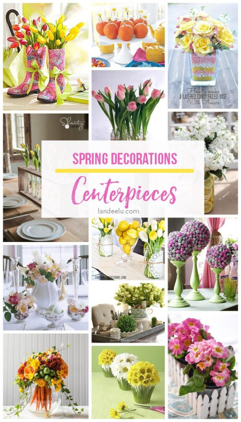 Spring Decorations: Centerpieces  So many beautiful ideas to add some spring touches to your table!
