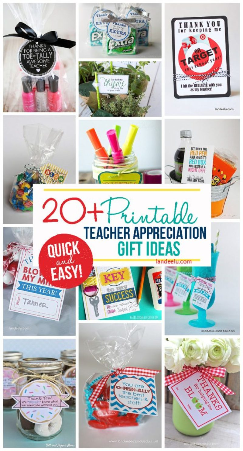 Classroom Ideas For Teachers ~ Teacher appreciation week gift ideas landeelu