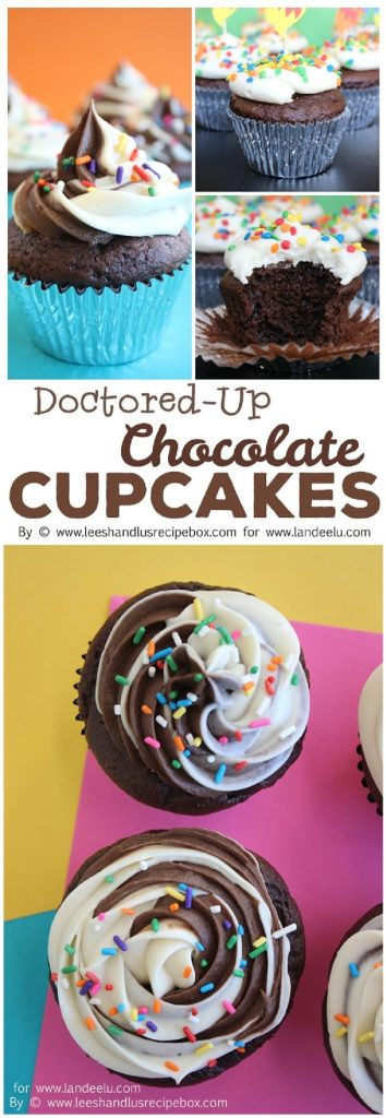 Doctored-Up Chocolate Cupcakes from a Cake Mix Quick and Easy Desserts Recipe
