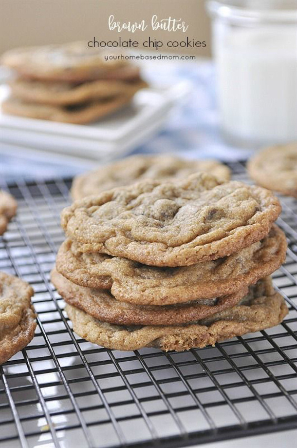 Brown Butter Chocolate Chip Cookies Recipe via Your Homebased Mom