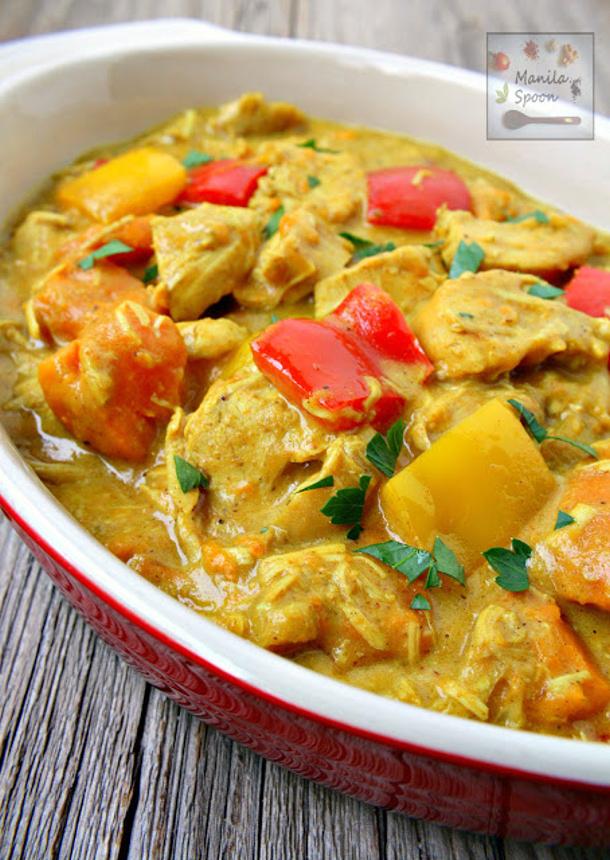 Chicken Curry Recipe - Filipino Coconut Chicken Curry via Manila Spoon