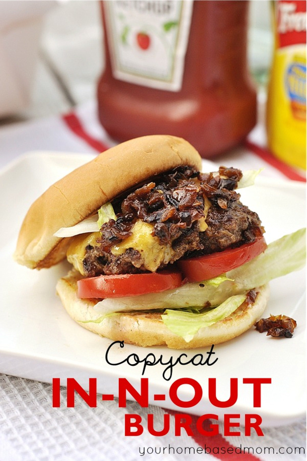 Ground Beef Recipes - Copycat In-N-Out Burger Recipe via Your Homebased Mom