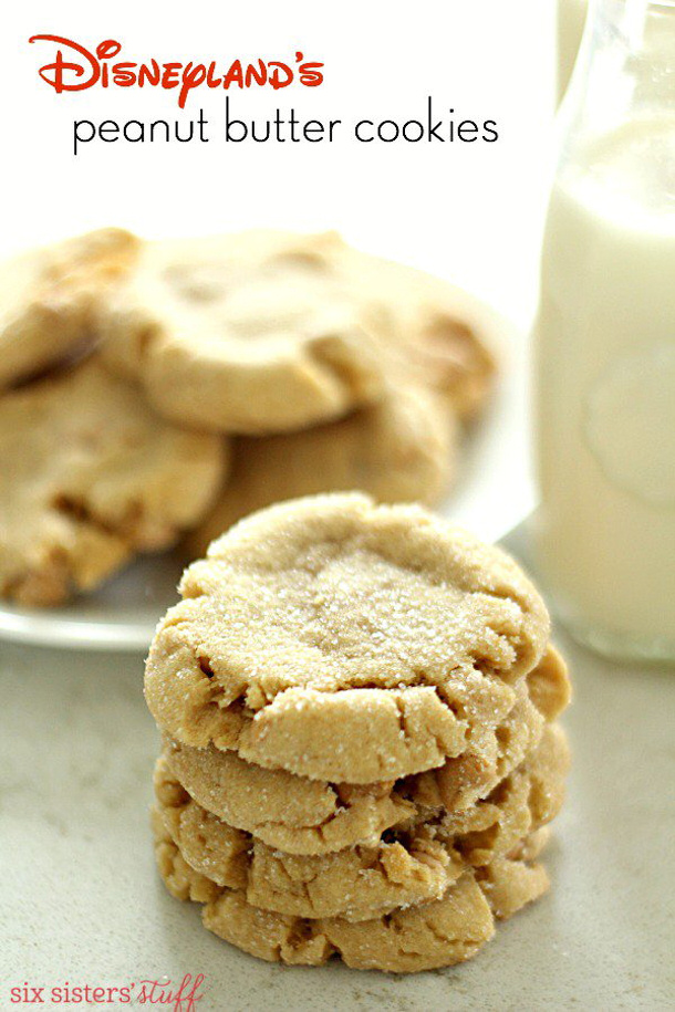 Disneylands Peanut Butter Cookies Recipe via Six Sisters Stuff