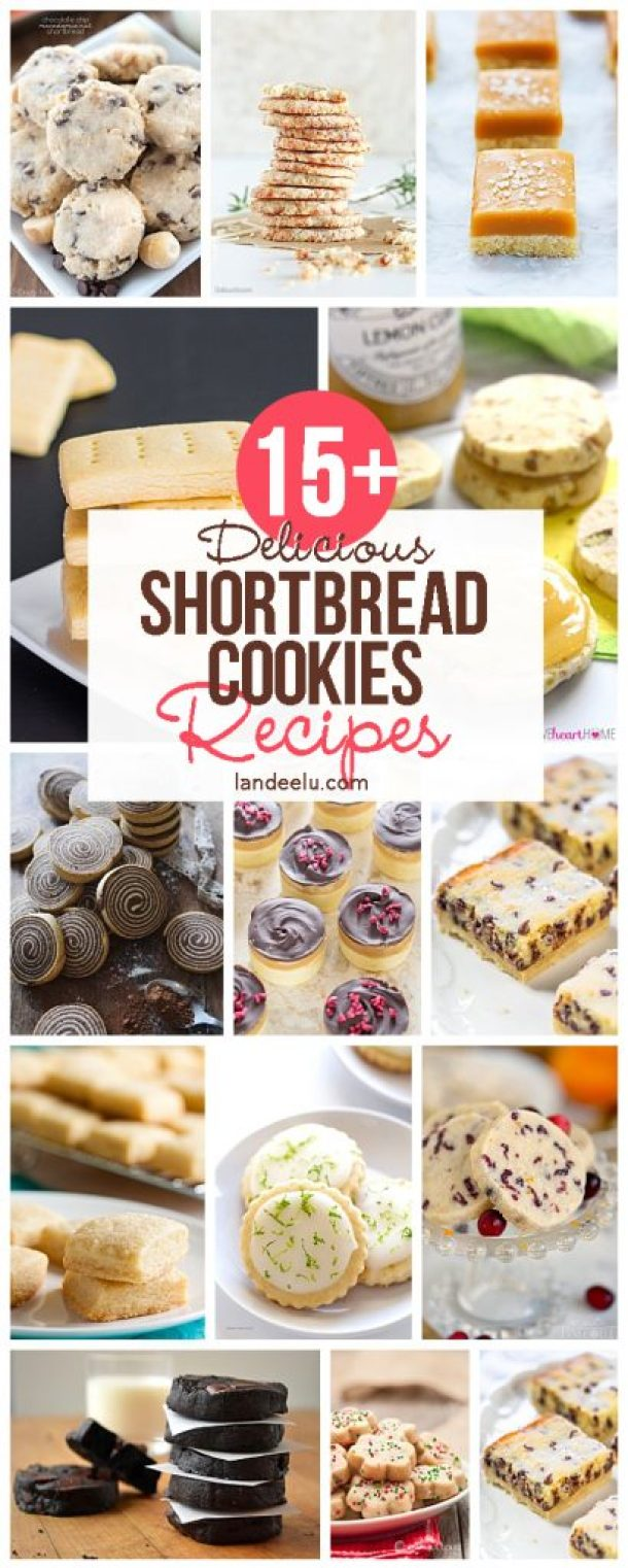 A ton of amazing shortbread cookies recipes to try! The Twix bar ones look amazing.