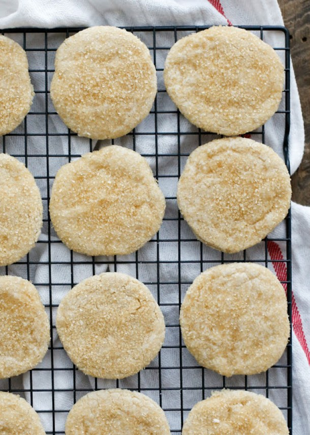 Shortbread Cookies - Sugared Shortbread Cookies Recipe via Barefeet in the Kitchen