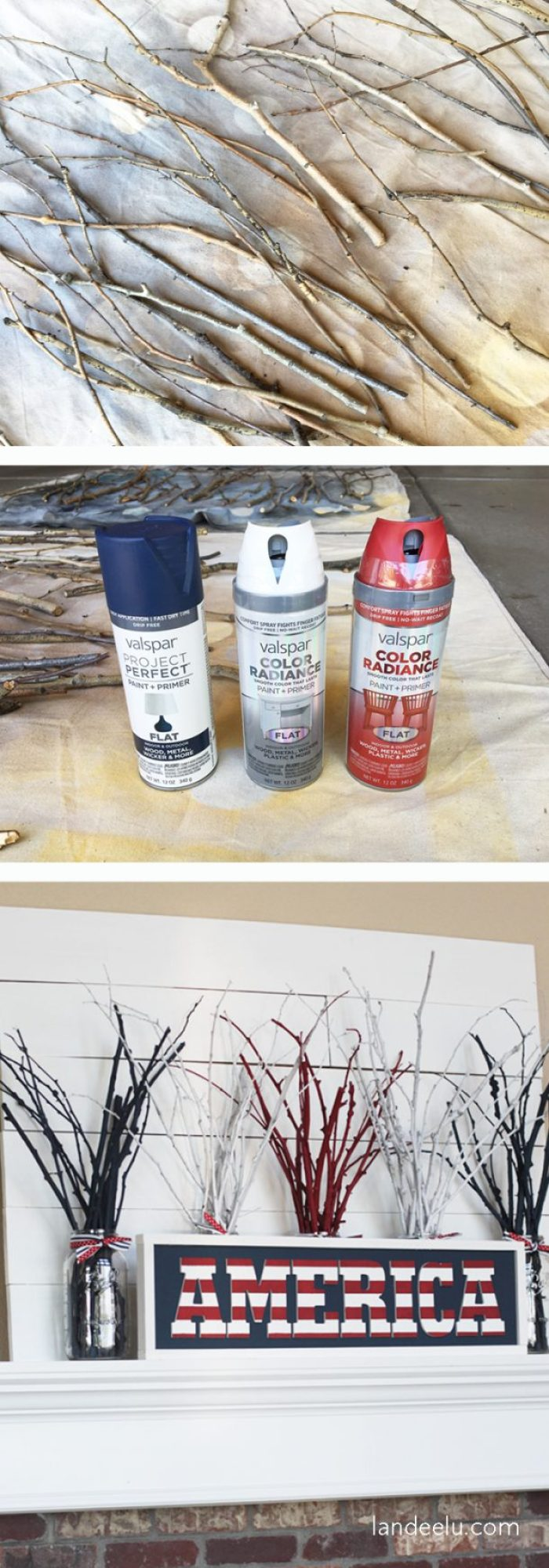 "Create ""fireworks"" for your 4th of July mantel this Independence Day!"