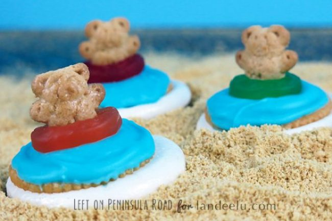 "These Teddy Graham S'mores are so fun with or without their ""shades""!"