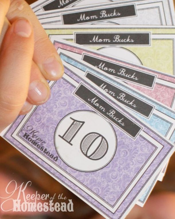 "DIY Chore Charts - Mom Bucks ""Miracle System"" Printables and Tutorial via Keeper of the Homestead"