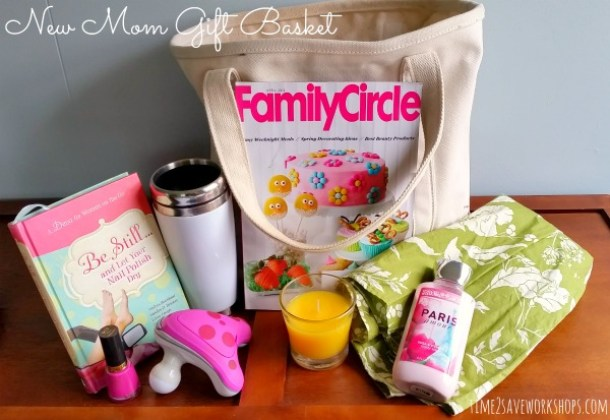 Do it Yourself Gift Basket Ideas for all Occassions - Pamper the New Mom with this