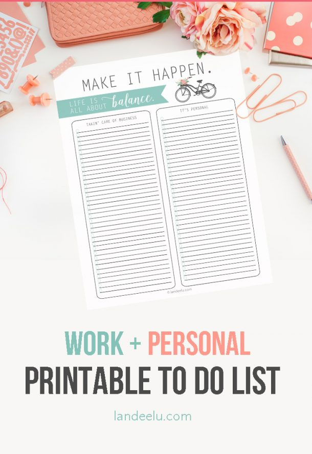 Organizational Printables - Balance-To-Do-List-Template-Printable via Landeelu
