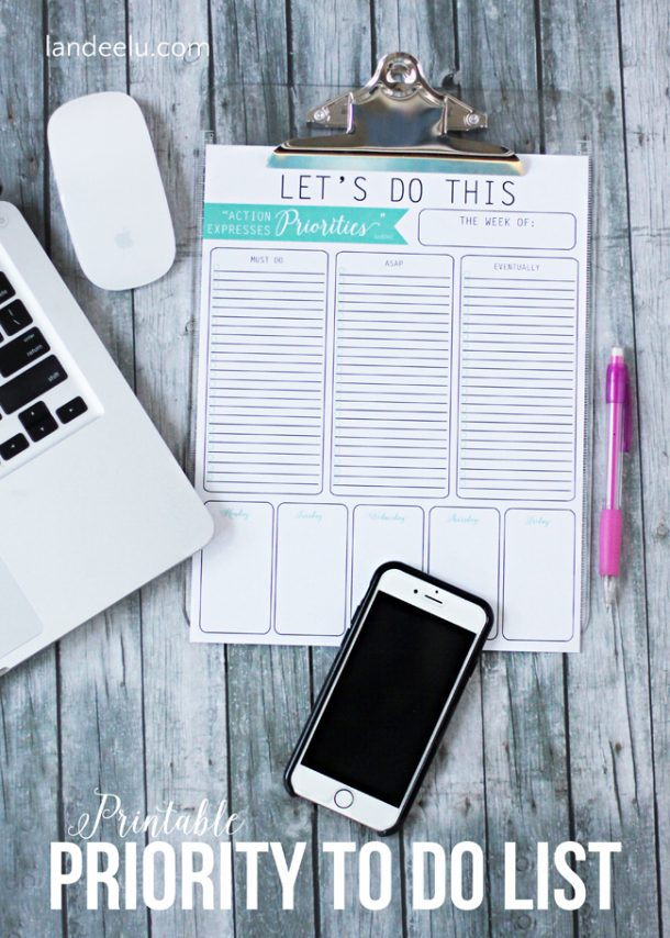 Organizational Printables - Priorities-Printable-To-Do-List via Landeelu