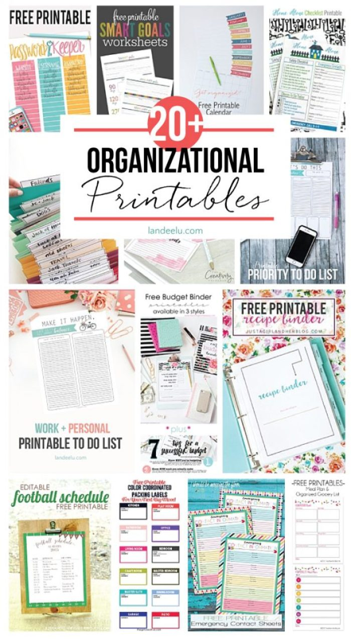 TONS of awesome organizational printables to keep track of everything!