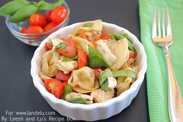 Caprese Tortellini Salad (4) LandeeLu
