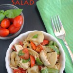 I can't wait to try this tortellini salad recipe! Love the caprese twist!