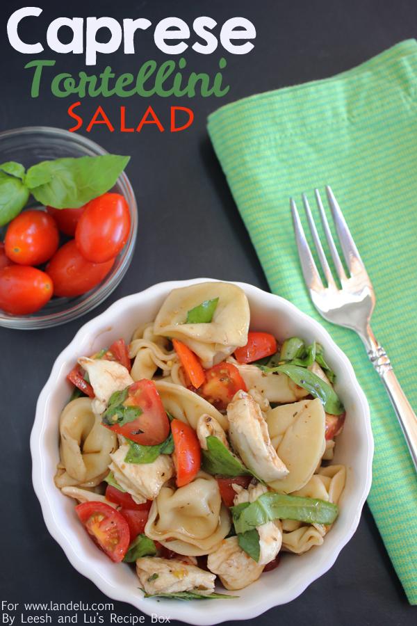 Caprese Tortellini Salad (7) LandeeLu