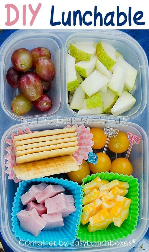 DIY Lunchables via Bento for my Girls - Fun Back to School Lunch Recipe