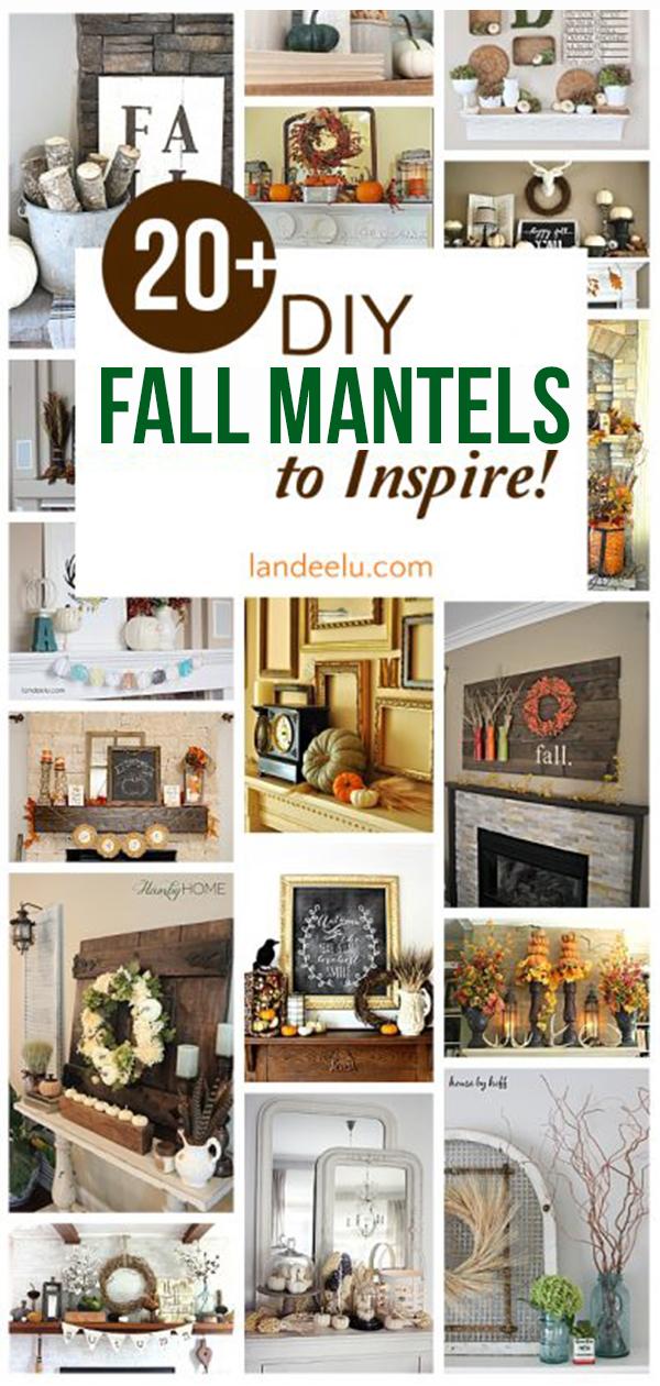 Over 20 beautiful DIY fall mantel ideas ready to inspire you! #falldecor #fallmantel #fall #pumpkins #fallhome