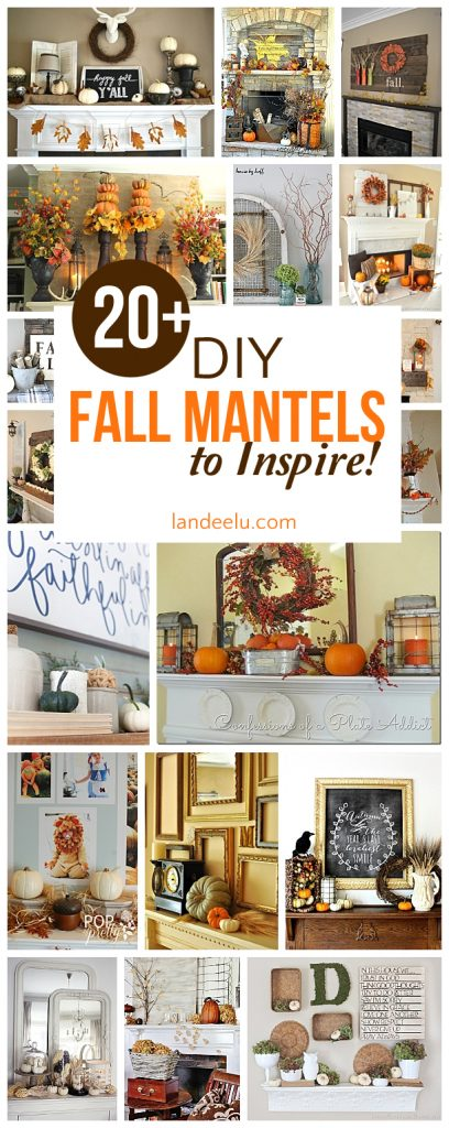 Over 20 beautiful DIY fall mantel ideas