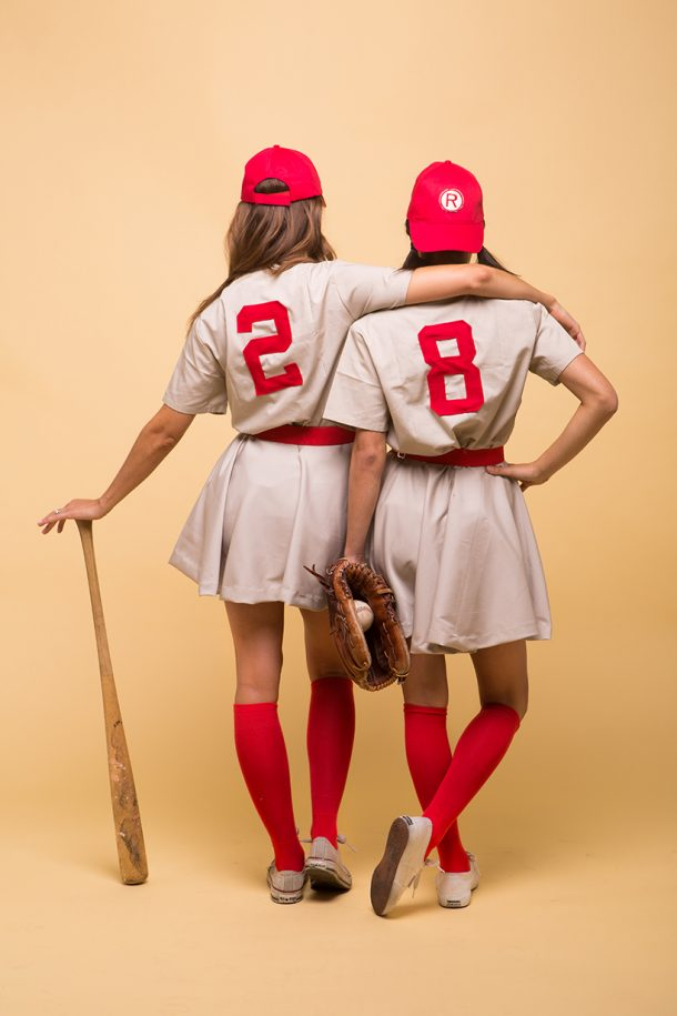 DIY Halloween Costumes Ideas - A League of Their Own Movie Characters Womens Baseball Costumes Tutorial. u201c & 20+ DIY Halloween Costumes - landeelu.com