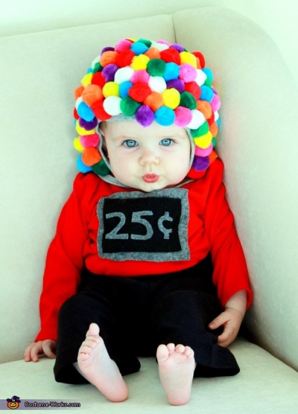 DIY Halloween Costumes Ideas - BABY Gumball Machine Costume via Costume Works