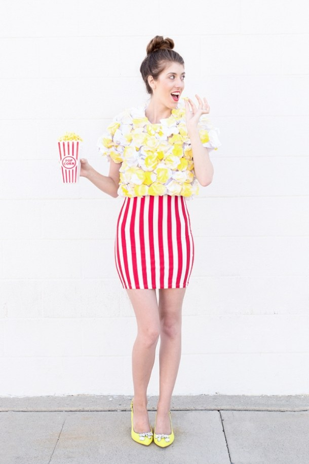 DIY Halloween Costumes Ideas - Fun Do it Yourself POPCORN Costume Tutorial via Studio DIY