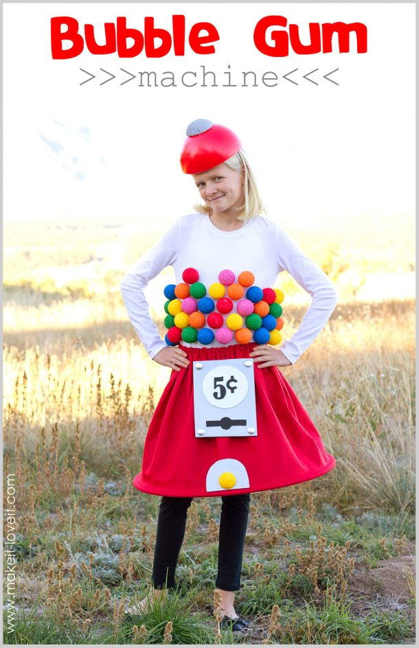 DIY Halloween Costumes Ideas - Teen Tween or Child DIY Gumball Machine Costume Tutorial Make it and Love it