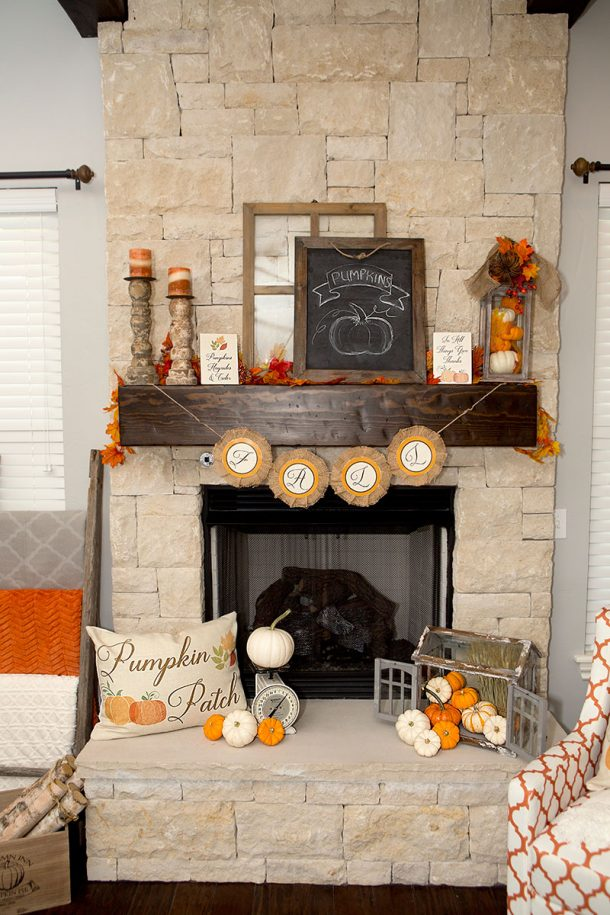 Diy fall mantel decor ideas to inspire for Do it yourself home designs