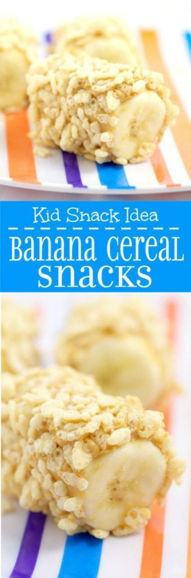 Healthy Snacks Recipes - Banana Cereal Snacks - perfect for after school or before a workout - Recipe via The Gracious Wife