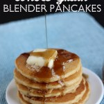 Blender pancakes! You just put the WHOLE whole grain into the blender. Healthy and delicious!