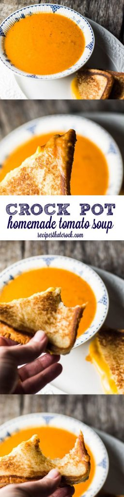 This easy Crock Pot Tomato Soup Recipe is a simple way to make a flavorful homemade tomato soup right at home! | Recipes that Crock!