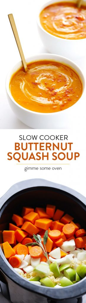 Slow Cooker Butternut Squash Soup Recipe | Gimme Some Oven