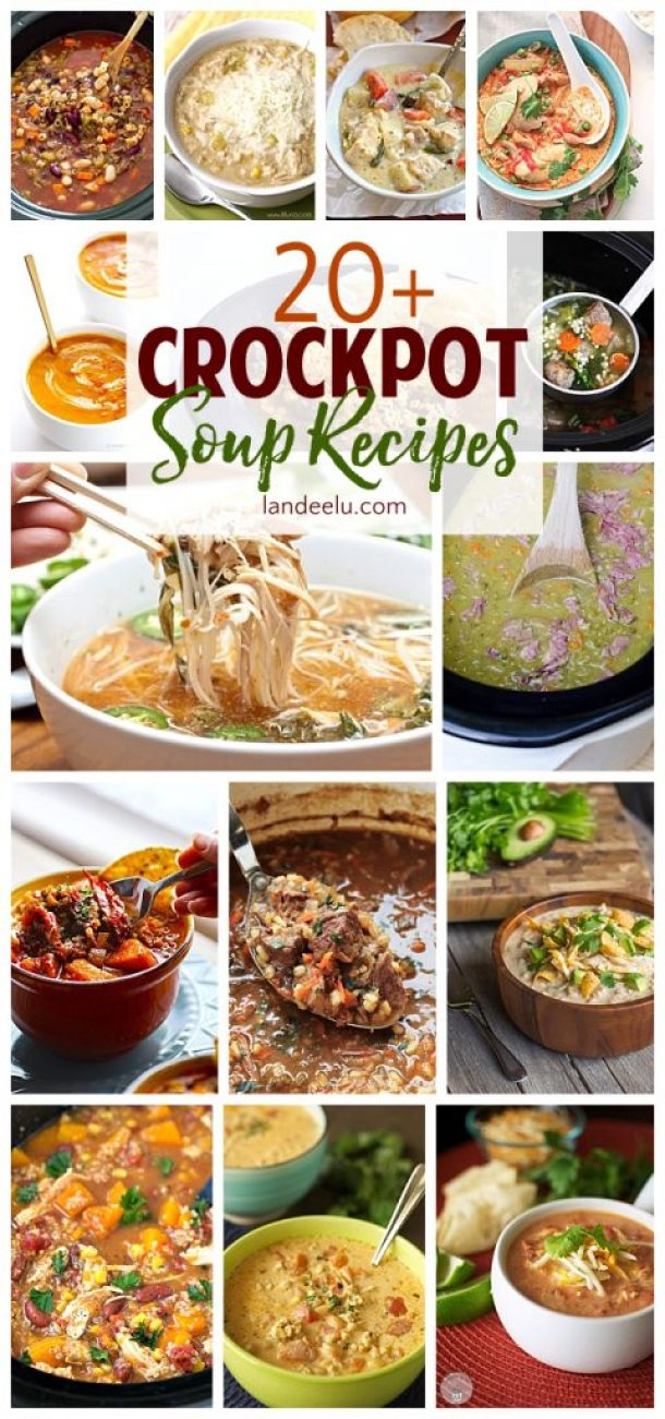 Delicious crockpot soup recipes to warm up your family this season. I love crockpot meals!