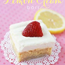 Crusted Lemon Cream Bars Recipe - these are SO YUMMY! #lemondessert #lemonbars #lemonrecipes #dessertrecipe
