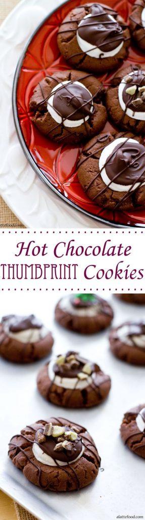 Hot Chocolate Thumbprint Cookies Recipe | A Latte Food