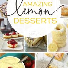 These lemon desserts look so yummy! Can't wait to try the lemon cheesecake! #lemondesserts #lemon #lemonbars #lemoncake