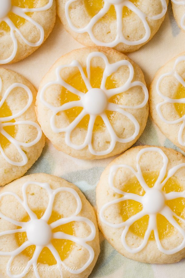 Lemon-Lime Shortbread Thumbprint Cookies Recipe | Saving Room for Dessert