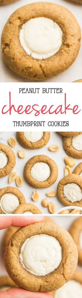 Peanut Butter Cheesecake Thumbprint Cookies Recipe | Amy's Healthy Baking