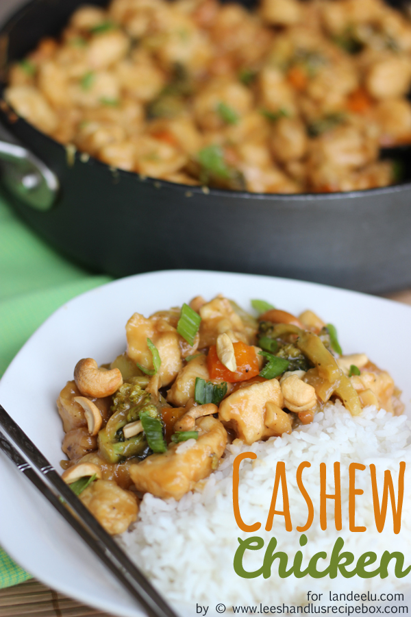 Quick Dinner Ideas - 30 Minute Easy Cashew Chicken Family Dinner Recipe via Landeelu