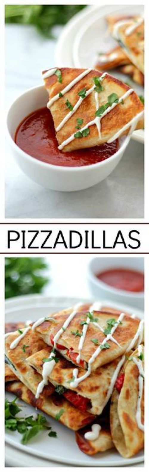 Quick Dinner Ideas - Pizzadillas Recipe via Diethood