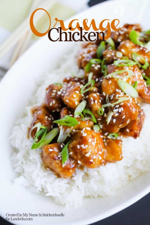 Quick Dinner Ideas - Quick and Easy Orange Chicken Dinner Recipe that is better than Take-Out via Landeelu