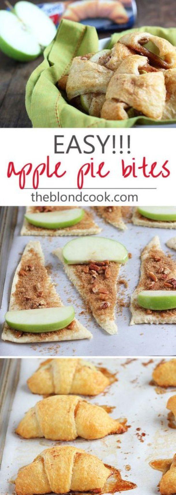 EASY!!! Apple Pie Bites Recipe | Blond Cook - Apple Recipes