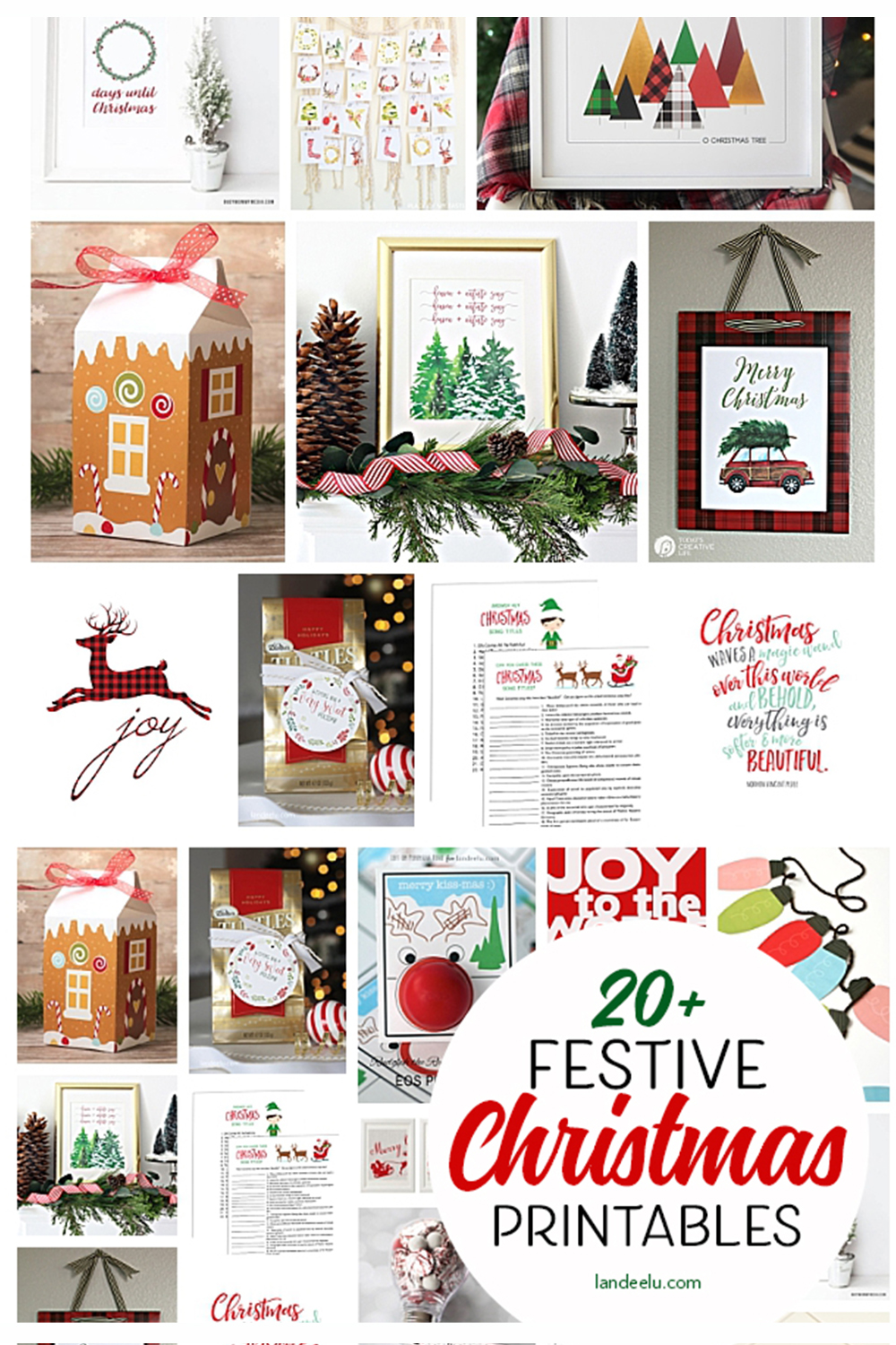 Make the holidays easier on yourself and download some awesome free Christmas printables! #christmasprintables #christmasdecor #easychristmasdecor #holidayprintables