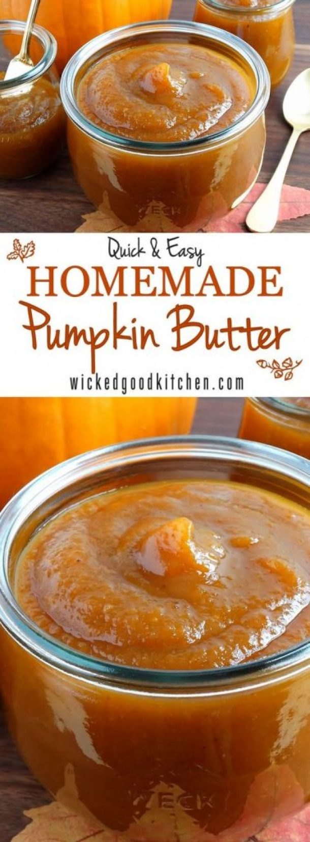 Homemade Pumpkin Butter (quick & easy) Recipe | Wicked Good Kitchen