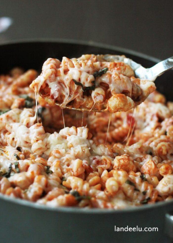 One Pot Chicken Parmesan Pasta Recipe